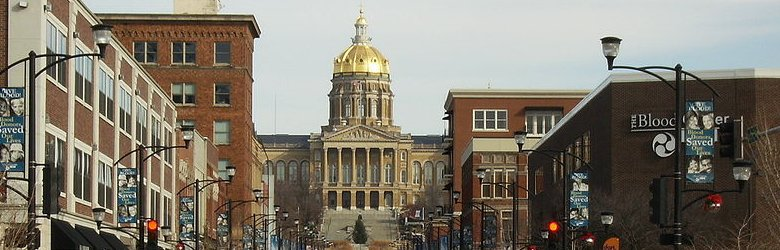 View of Des Moines with the Iowa State Capitol