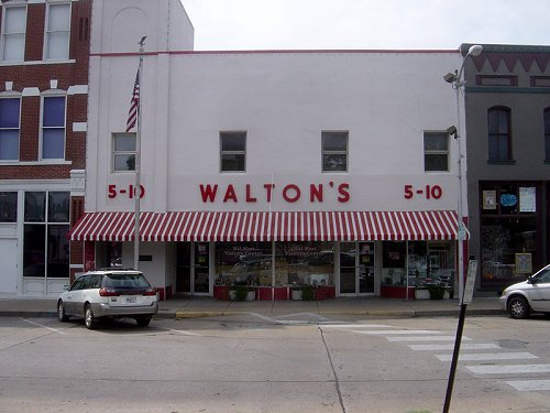 Walton's Five and Dime, now the Wal-Mart Visitors Center
