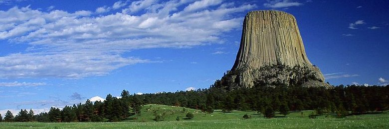 Wyoming, View of Devils Tower, Wyoming