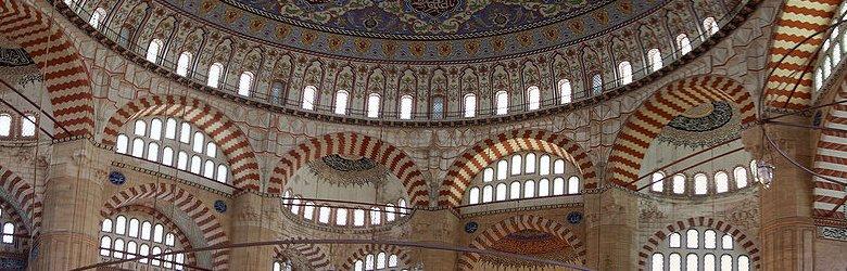 Interior of Selimiye Mosque, Edirne, Turkey