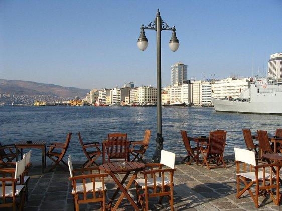 View from Konak Pier in İzmir, Turkey