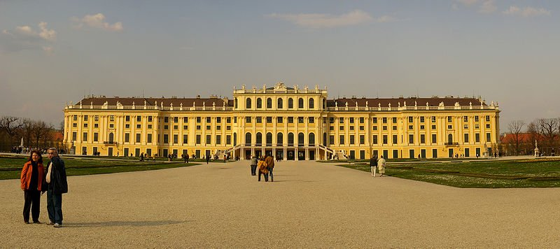 Schloss Schonbrunn Vienna Palace Gardens Austria World Heritage Site