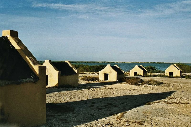 Slave huts on Bonaire