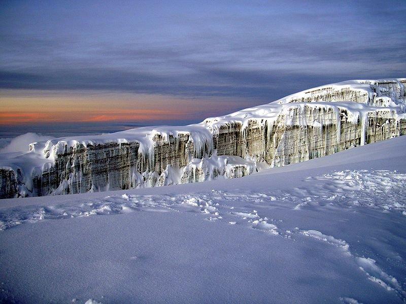 Southern Glacier of Mount Kilimanjaro in Tanzania