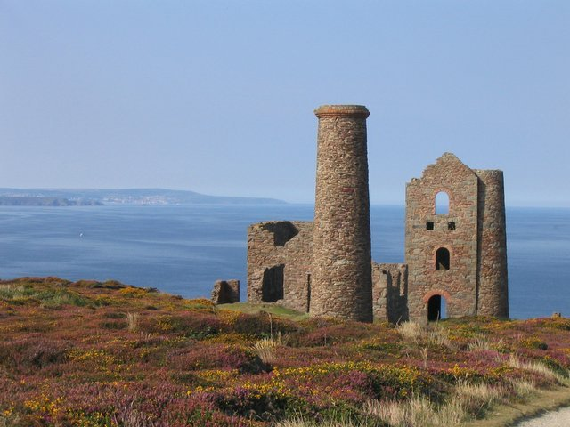 The old tin mine of St Agnes in Cornwall
