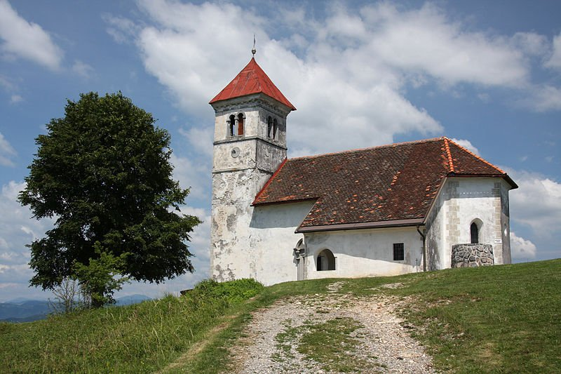 St Ana Church, on hill above Podpeč, Slovenia