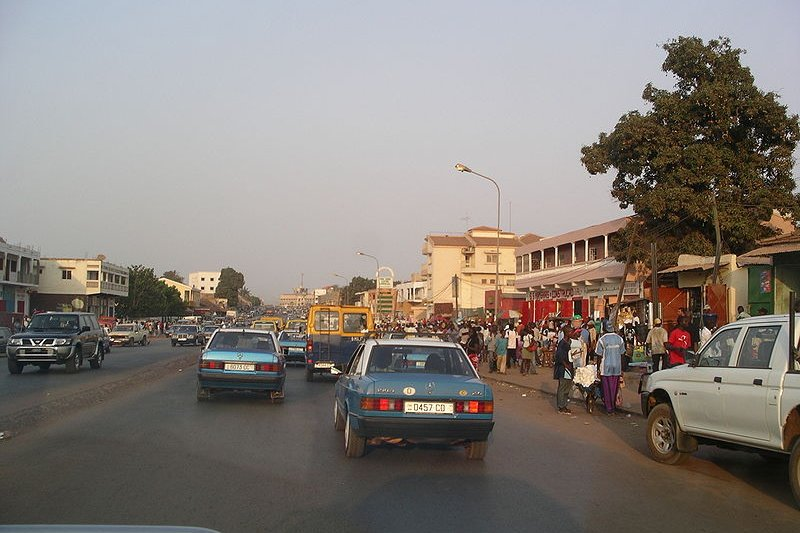 Street in Bissau, the capital of Guinea-Bissau