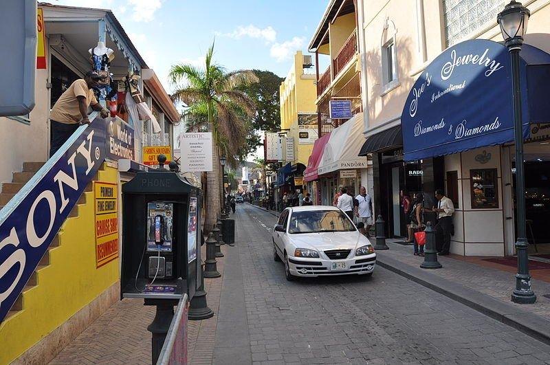 Street in Sint Maarten
