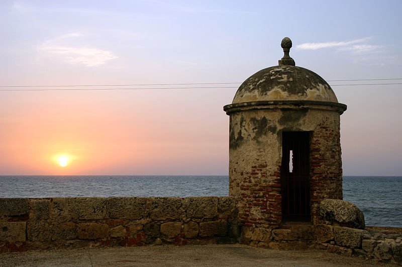 Sunset at Cartagena, Colombia