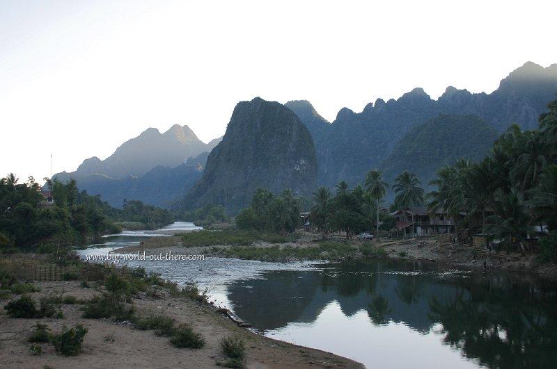Sunset in rural Laos
