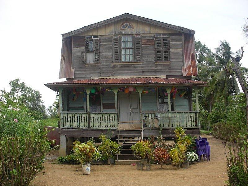 Surinamese house in Coronie, Suriname