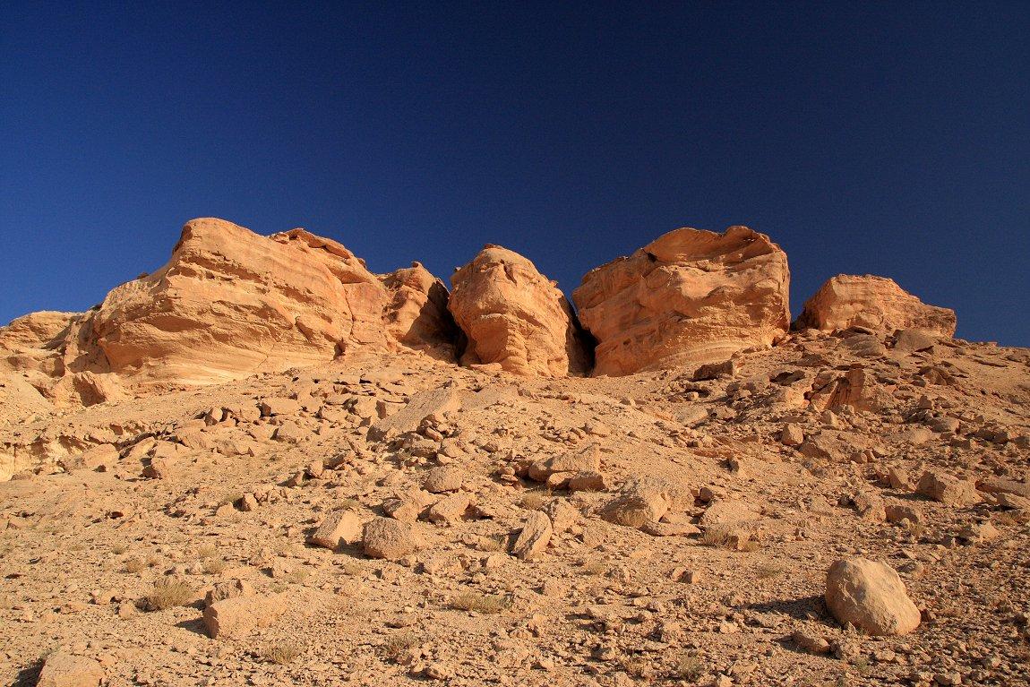 Landscape in the Syrian desert