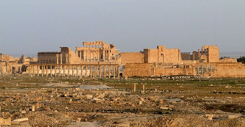 Temple of Bel at the ruins of Palmyra, Syria