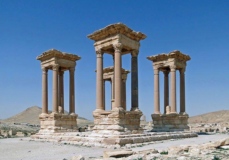 Tetrapylon of Palmyra, Syria