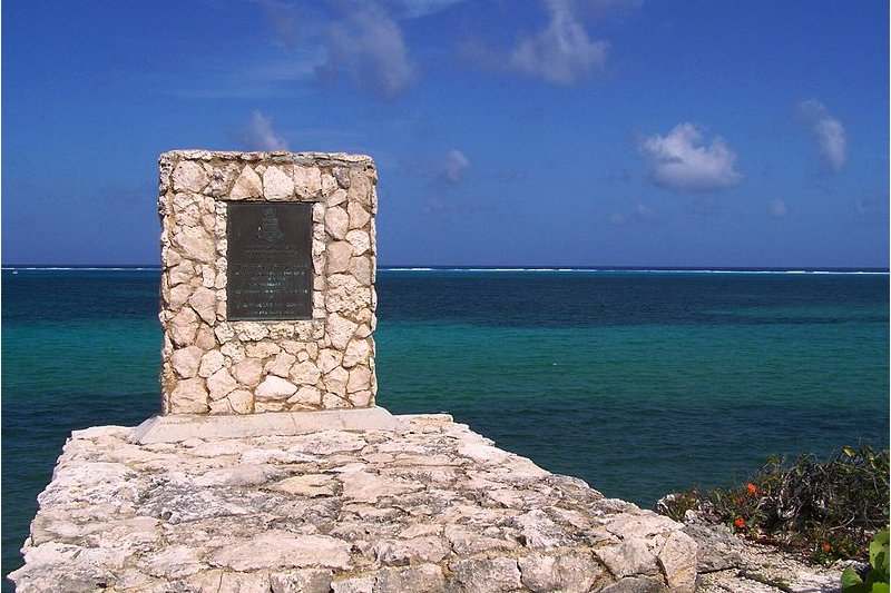 Shipwreck memorial, Cayman Islands