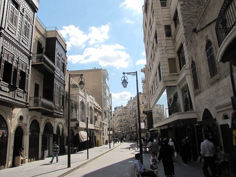 Tilel, a shopping street in Aleppo