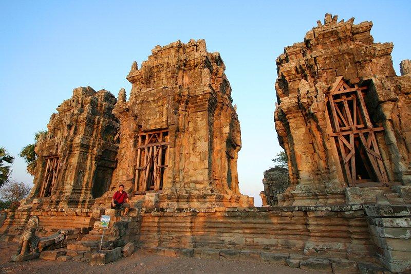 Tim at the Angkorian ruins of Phnom Krom