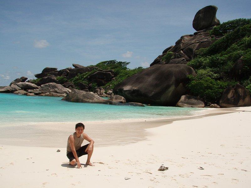 The sea off Similan Islands