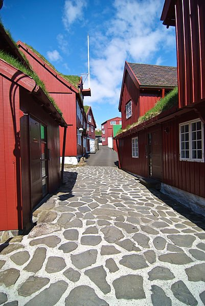 Tinganes, in Tórshavn, Faroe Island