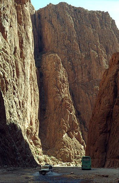 Todra Gorge in the High Atlas, Morocco
