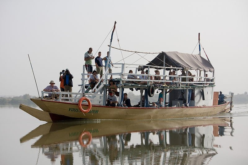 Tourist boat on the Gambia River