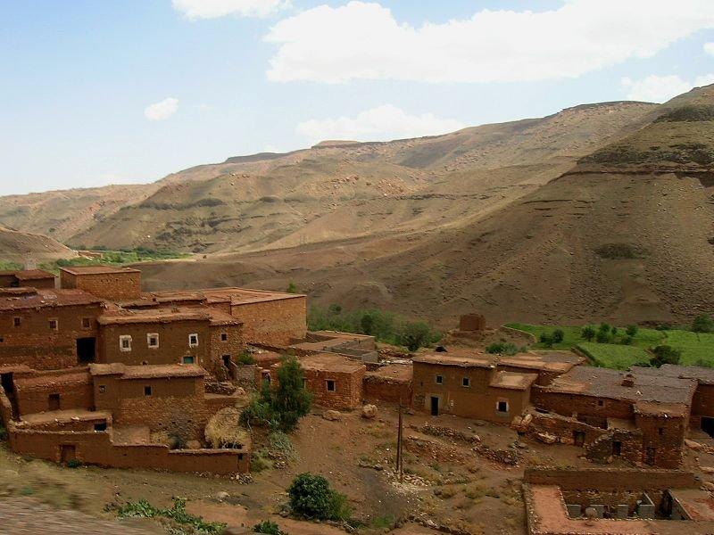 Town in the Atlas Mountains in Morocco