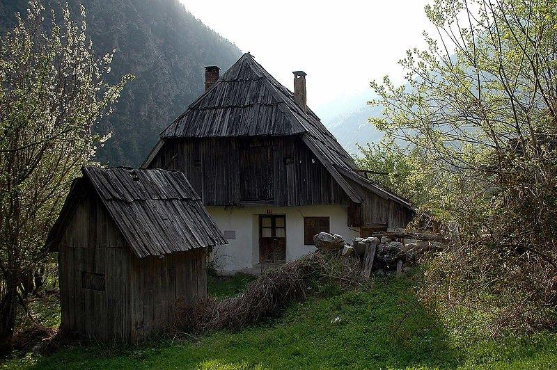 Traditional farmhouse in Trenta, Slovenia