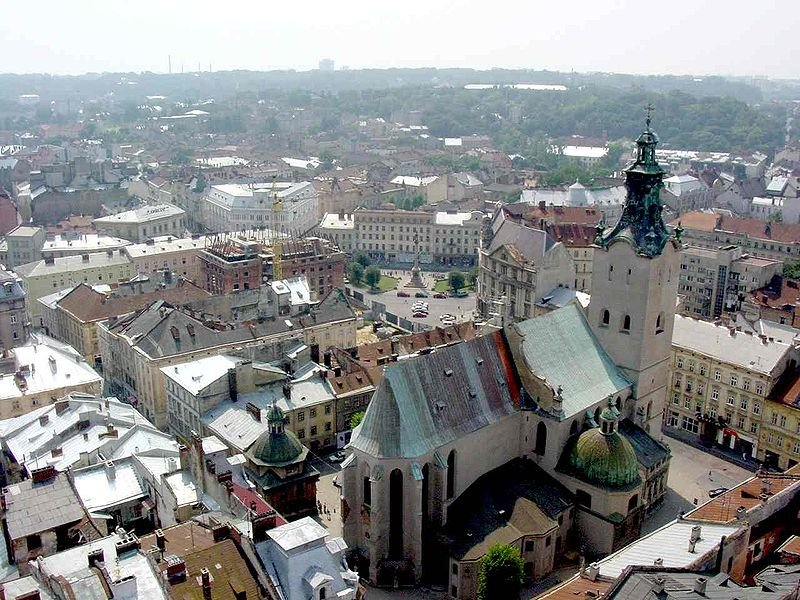 View of Lviv with the Latin Cathedral