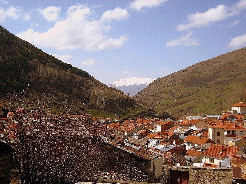Village in a valley in Kosovo