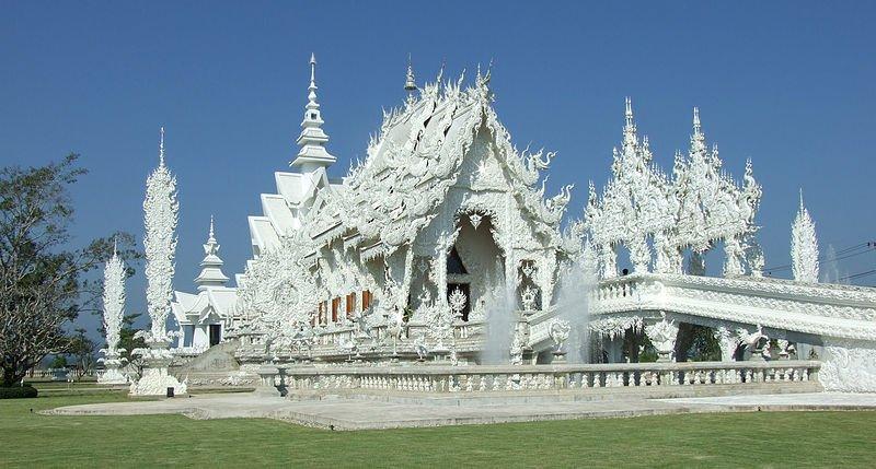 Wat Rong Khun, the White Temple of Chiang Rai