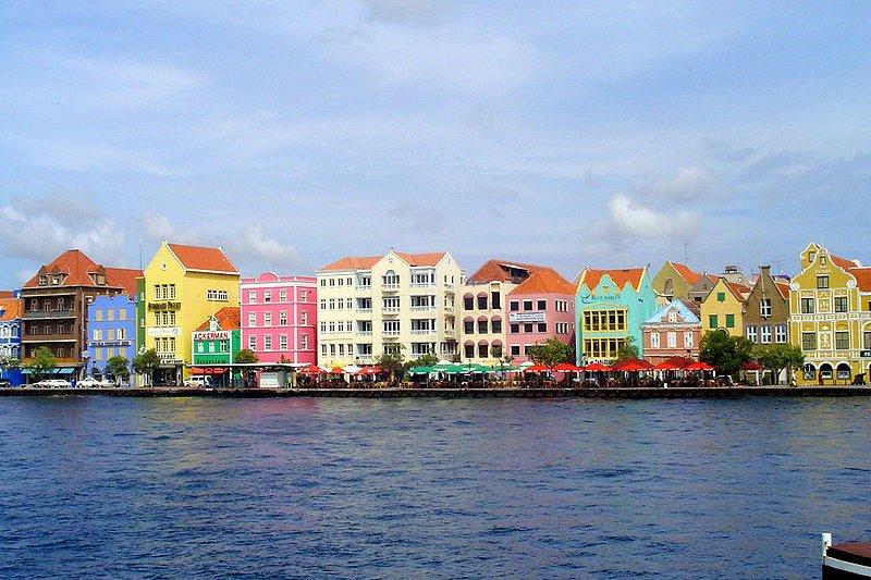 Willemstad waterfront in Willemstad, Curaçao