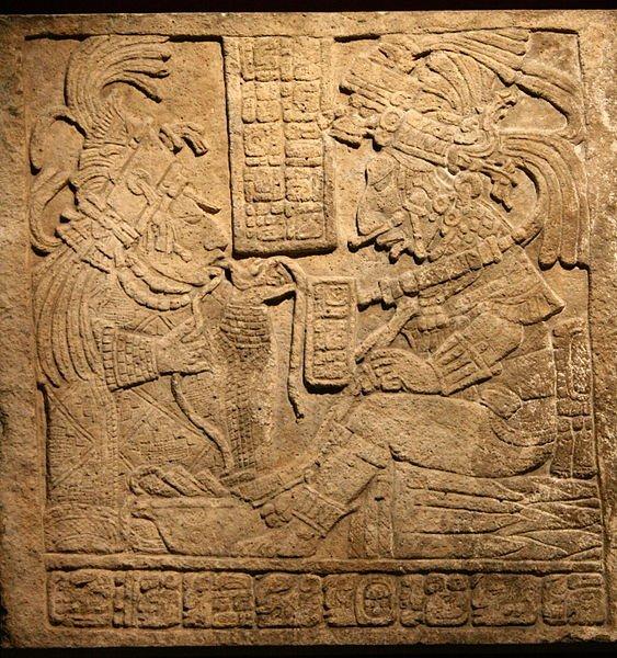 Maya lintel at Yaxchilan, Mexico