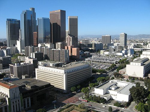Bunker Hill in downtown Los Angeles