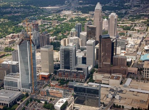 Charlotte city center, North Carolina