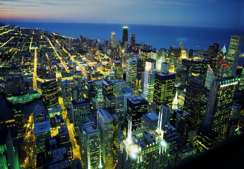 View of downtown Chicago from Willis Tower