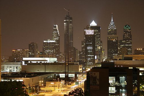 Night time in Philadelphia
