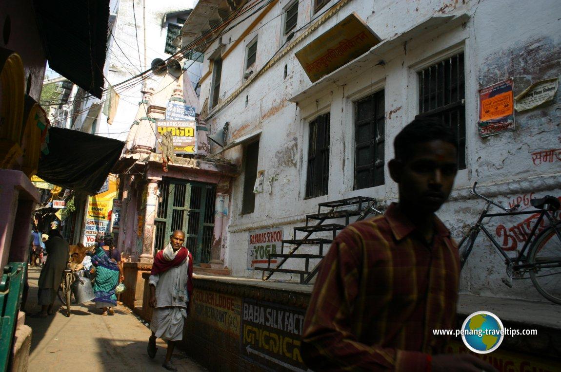 Exploring the gali of Varanasi