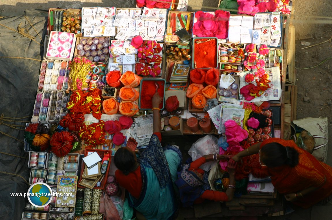 Vendor at a Varanasi market