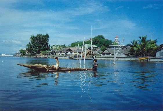 Coastal village on Samar, Philippines