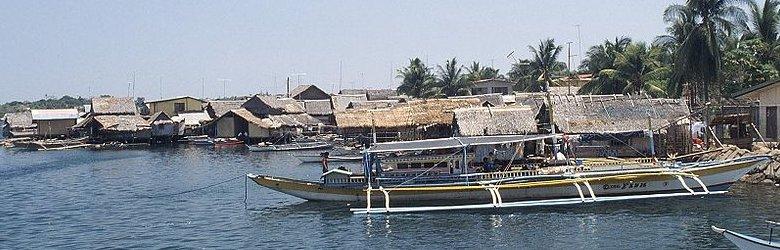 Stilt village along the coast of Palawan, Philippines