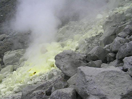Sulfur vent on Mount Apo
