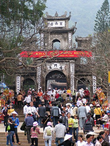 Gate of Thien Tru Pagoda at the Perfume Pagoda complex