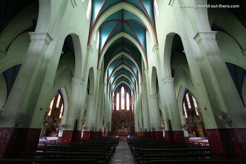 The interior of St Joseph's Cathedral, Hanoi
