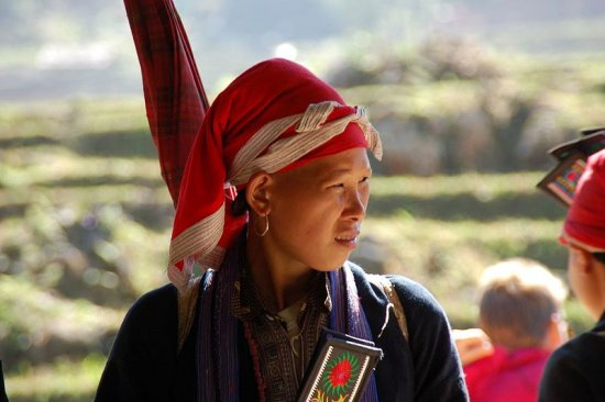Young woman of the Red Dao hill tribe of Sa Pa