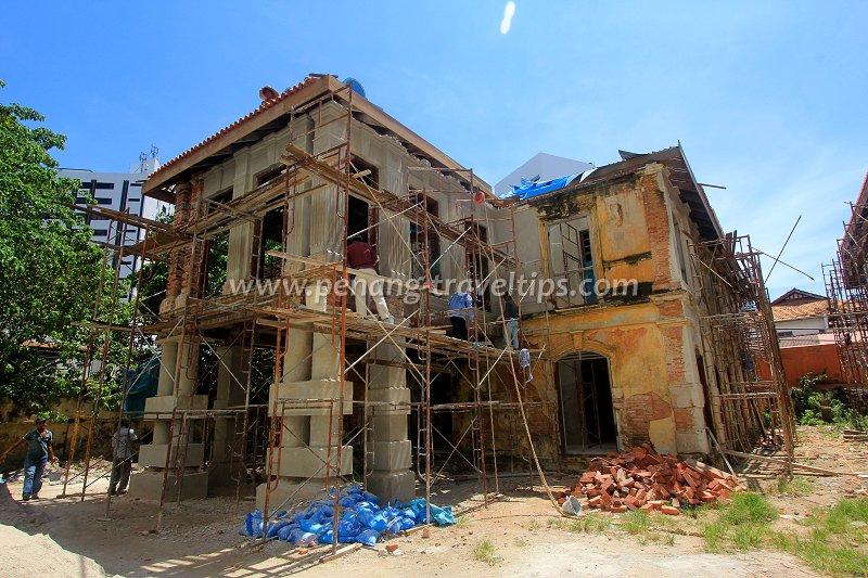 33 Farquhar Street under restoration
