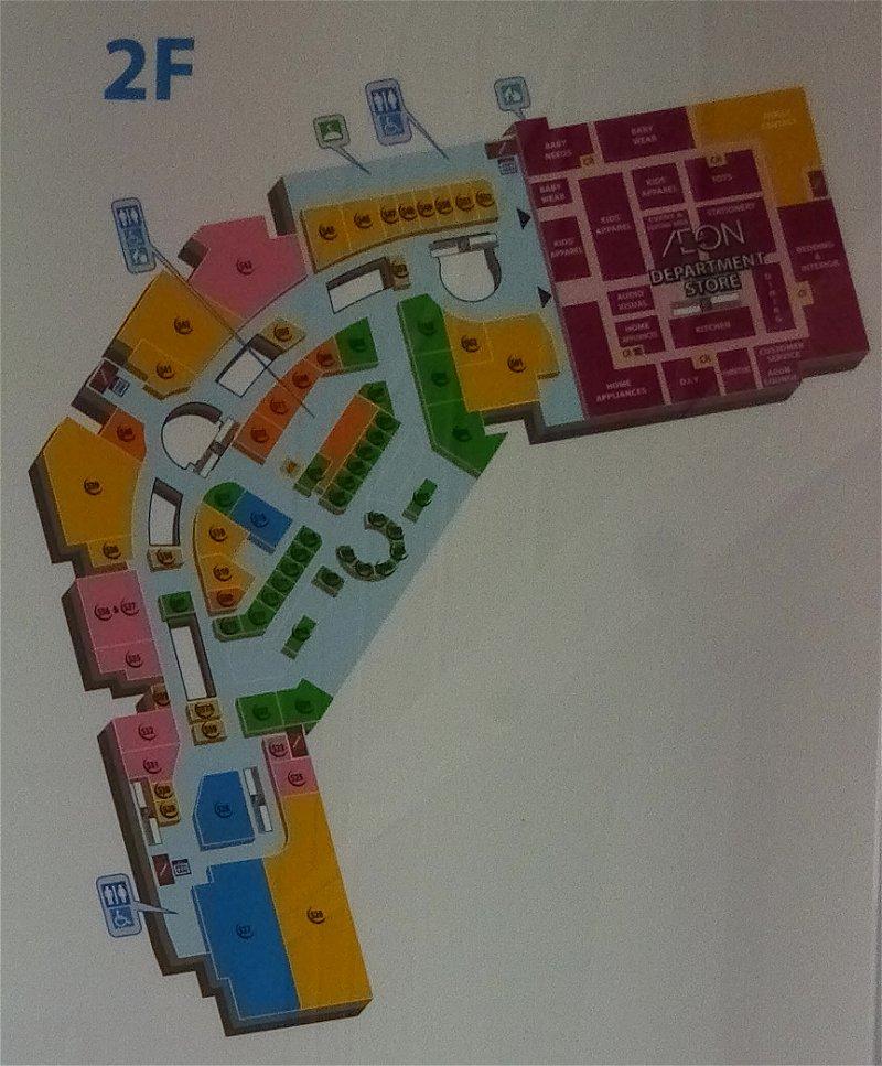 Floor Plan: 2nd Floor, AEON Mall Bukit Mertajam