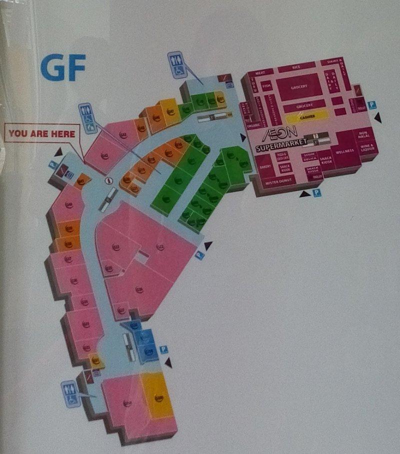 Floor Plan: Ground Floor, AEON Mall Bukit Mertajam