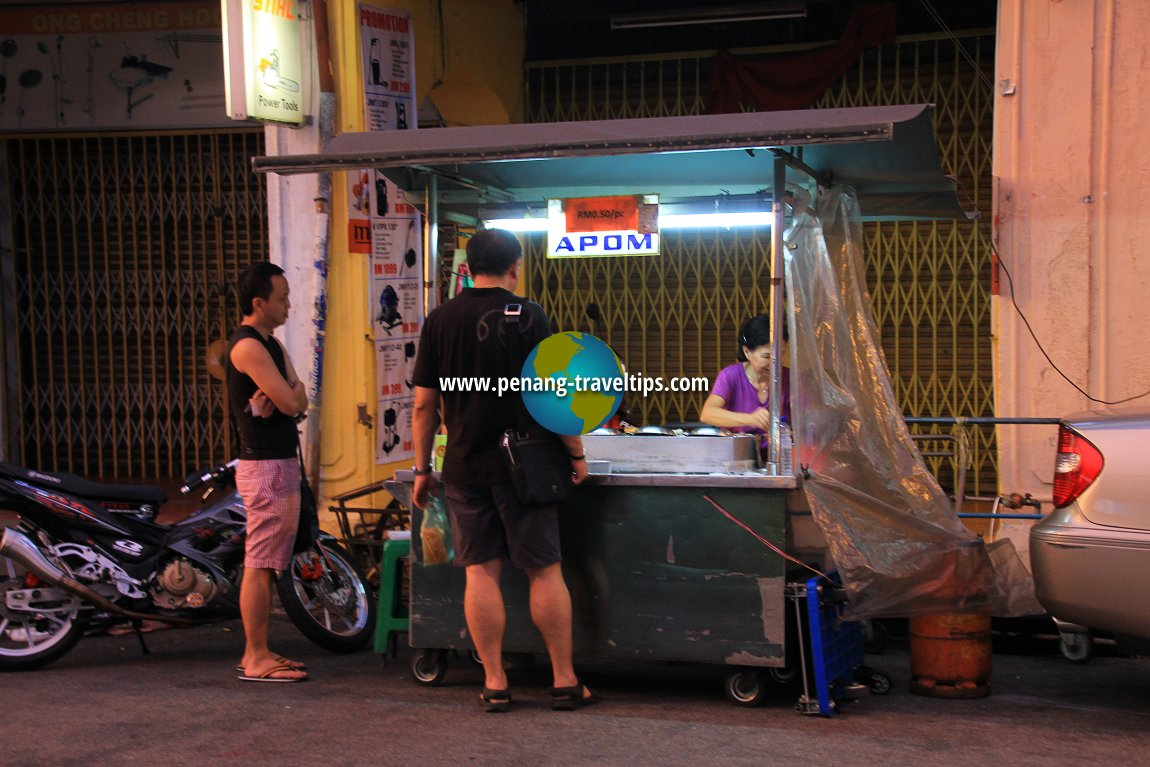 Apom stall at Cheapside Hawker Centre