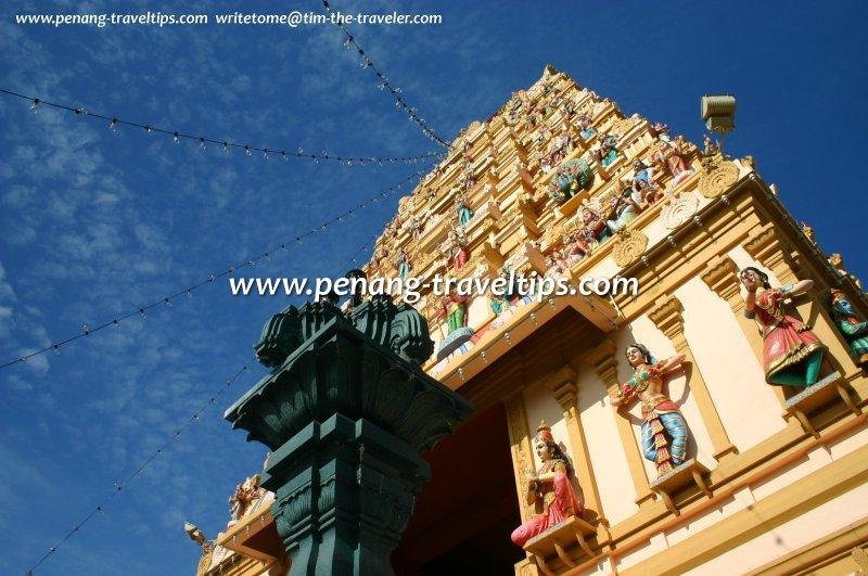 The rajagopuram of the Arulmigu Karumariamman Temple in Seberang Jaya