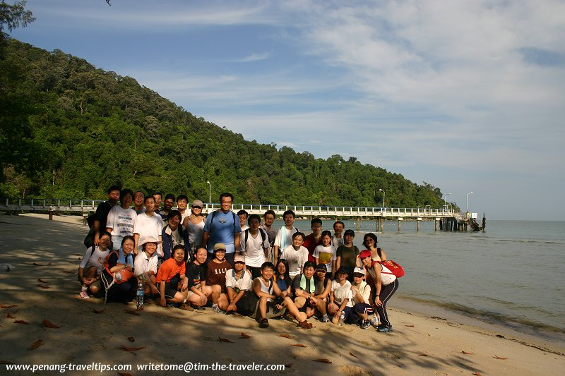AsiaExplorers members joining Tim on the Muka Head trek